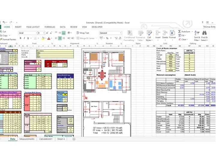 Free Download Construction Cost Estimating Sheet