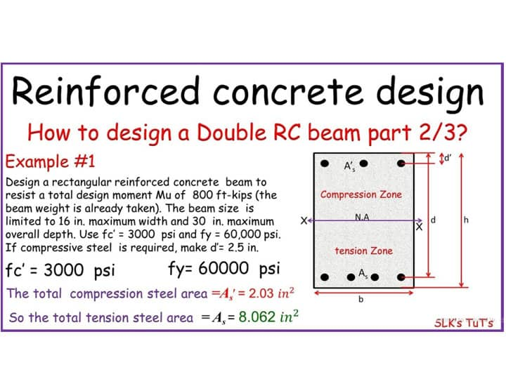 Video Lecture - Designing a Doubly Reinforced Concrete Beam
