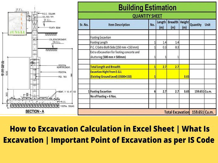 Excavation Calculation Excel Sheet Free Download