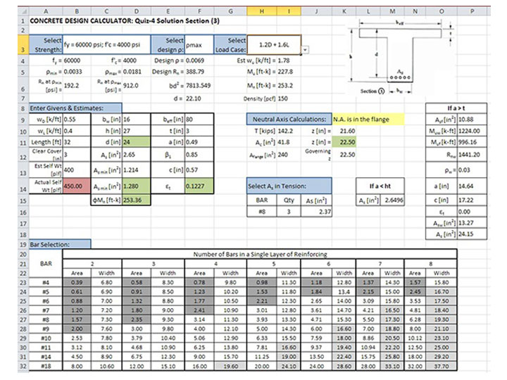 Top 20 Structural Engineering Spreadsheets Free Download